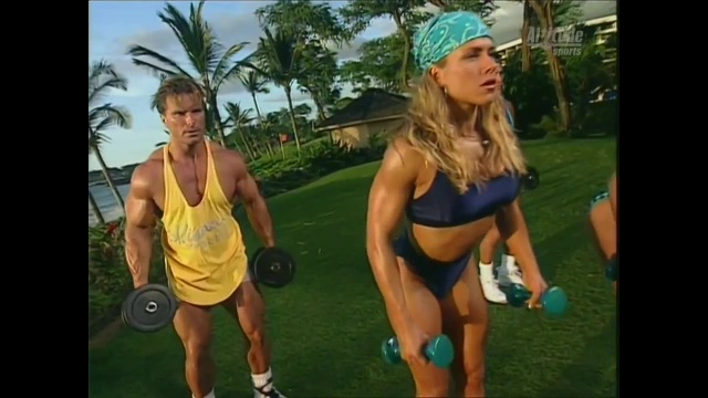 Monica Brant Inflates Tight Black Bikini Shorts Flex Appeal 720p avi