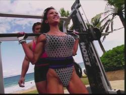 Kiana Tom Flex Appeal Mesh Over Black Bikini Workout 720p 20150326141428 0 JPG