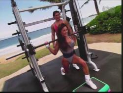 Kiana Tom Flex Appeal Mesh Over Black Bikini Workout 720p 20150326141538 1 JPG