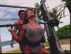 Kiana Tom Flex Appeal Mesh Over Black Bikini Workout 720p 20150326141434 0 JPG