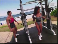 Kiana Tom Flex Appeal Mesh Over Black Bikini Workout 720p 20150326141452 0 JPG