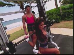 Kiana Tom Flex Appeal Mesh Over Black Bikini Workout 720p 20150326141553 1 JPG