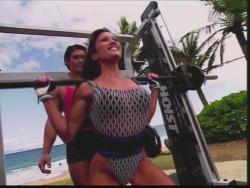 Kiana Tom Flex Appeal Mesh Over Black Bikini Workout 720p 20150326141428 1 JPG