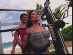 Kiana Tom Flex Appeal Mesh Over Black Bikini Workout 720p 20150326141424 0 JPG