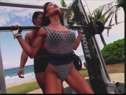 Kiana Tom Flex Appeal Mesh Over Black Bikini Workout 720p 20150326141433 0 JPG