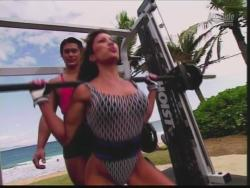 Kiana Tom Flex Appeal Mesh Over Black Bikini Workout 720p 20150326141430 0 JPG